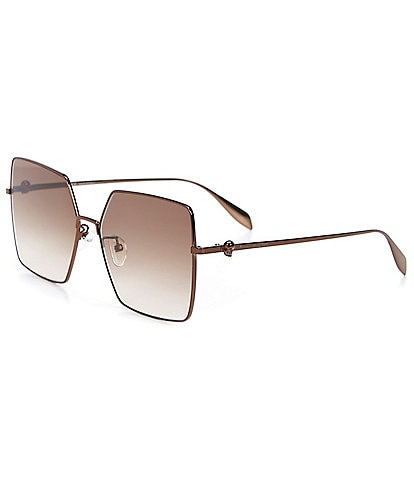 Alexander McQueen Women's Oversized Square 60mm Sunglasses