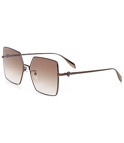 Alexander McQueen Women's Oversized Square 60mm Sunglasses