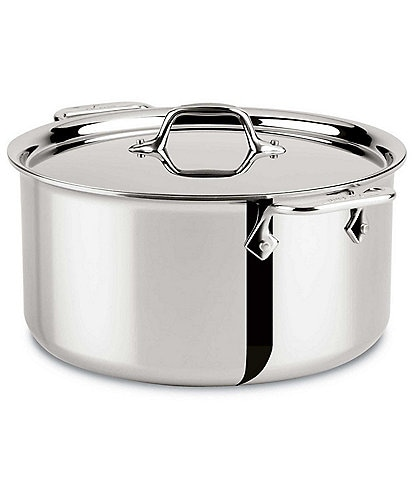 All-Clad D3 Stainless Steel 3-Ply Bonded Cookware 8-Quart Stockpot with Lid