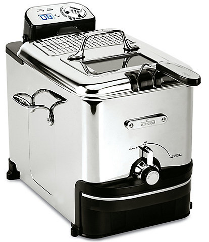 All-Clad Pro Stainless Steel Deep Fryer with Digital Timer and Adjustable Temperature