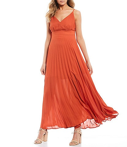 Allison & Kelly Pleated Maxi Dress