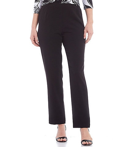Allison Daley City Stretch Straight Leg Pull-On Pants