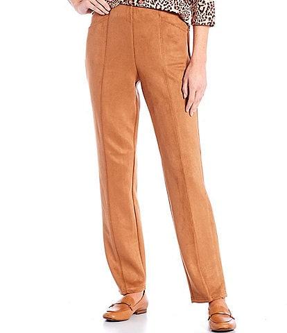 Allison Daley Petite Size Black Luxe Suede Pants