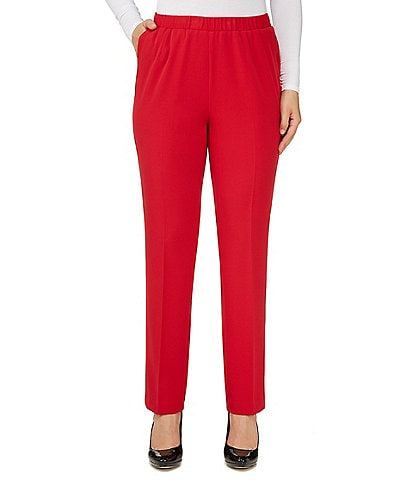 Allison Daley Petite Size Pull-On Straight Leg Pants