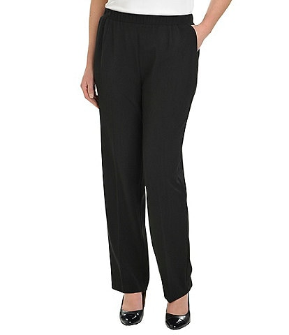 Allison Daley Petite Straight-Leg Pull-On Pants