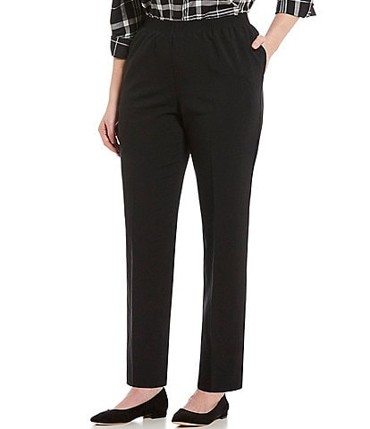 Allison Daley Plus Size Tapered Leg Pull-On Pants