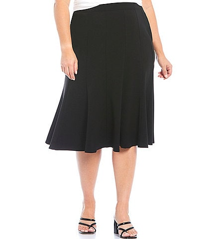 Allison Daley Plus Size City Stretch Gored Panel Skirt