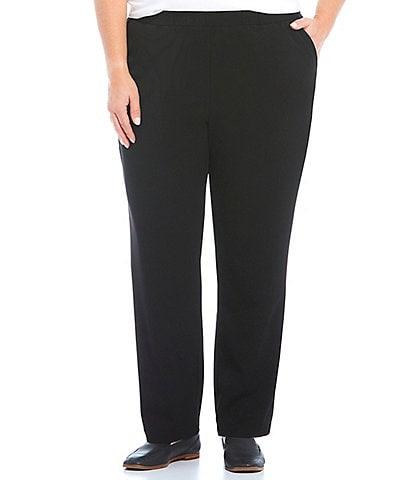Allison Daley Plus Size City Stretch Straight Leg Pull-On Pants