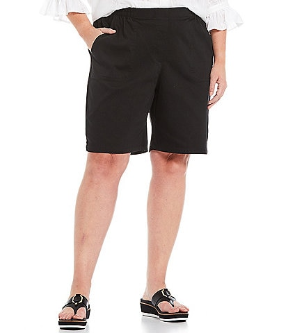 Allison Daley Plus Size Twill Pull-On Shorts