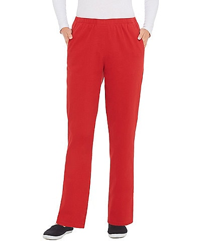 Allison Daley Pull-On Straight Leg Silky Stretch Twill Pants