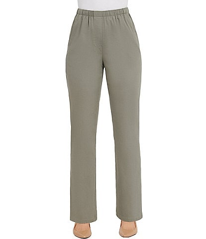 Allison Daley Stretch Twill Pull-On Straight Leg Pants