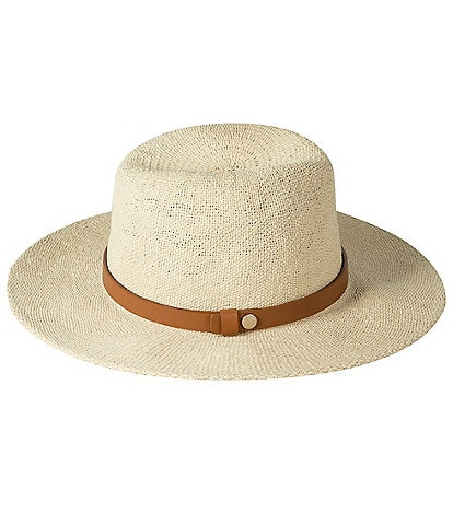 AllSaints Stone Wash Straw Fedora Hat