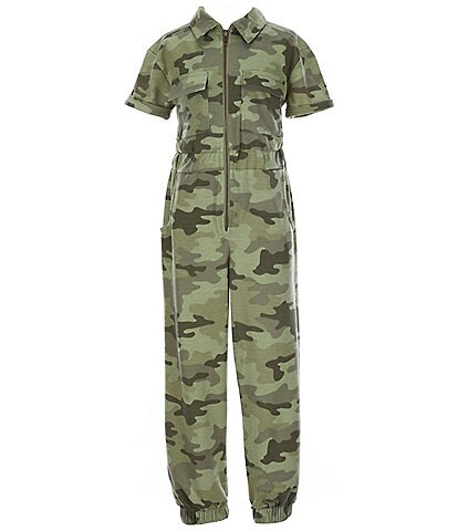 Ally B Big Girls 7-16 Camouflage Jumpsuit
