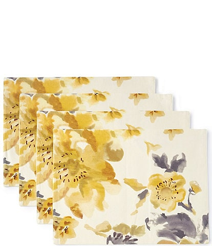 Aman Imports Floral Watercolor Placemats, Set of 4