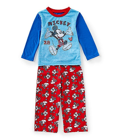 AME Little Boys 2T-4T Mickey Mouse 2-Piece Pajama Set