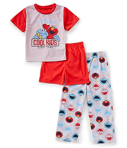 AME Little Boys 2T-4T Sesame Street 3-Piece Pajama Set