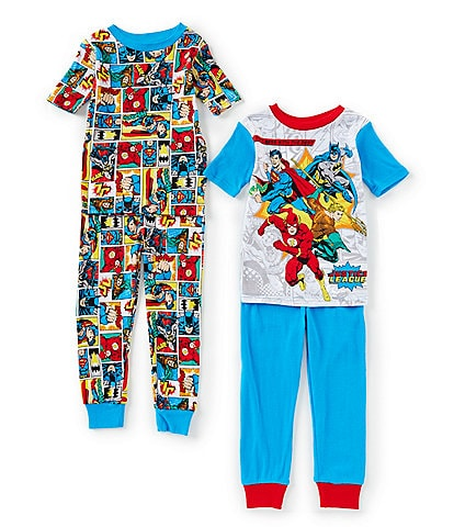 AME Little/Big Boys 4-10 Justice League Four-Piece Pajama Set