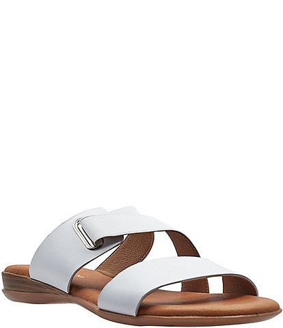 Andre Assous Alima Featherweights™ Leather Elastic Slide Sandals