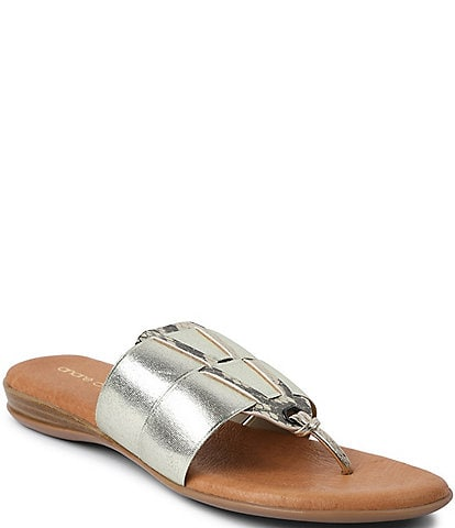Andre Assous Elise Featherweights™ Elastic Leather Thong Sandals