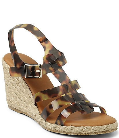 Andre Assous MadiaTortoise Print Fisherman Espadrille Sandals