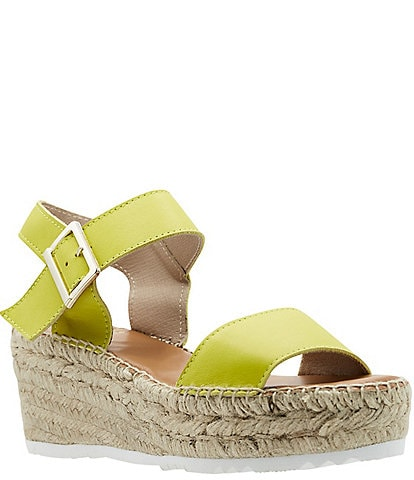 Andre Assous Nakita Leather Espadrille Wedge Sandals