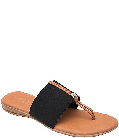 Andre Assous Nice Slide On Thong Sandals