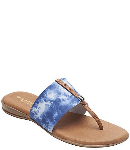 Andre Assous Nice Featherweights™ Tie-Dye Thong Sandals