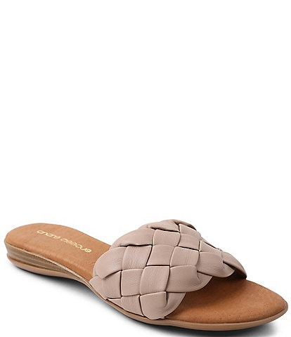 Andre Assous Nicki Featherweights™ Woven Leather Slide Sandals
