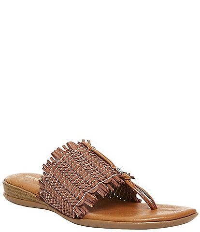Andre Assous Niviya Woven Stretch Thong Slide Sandals