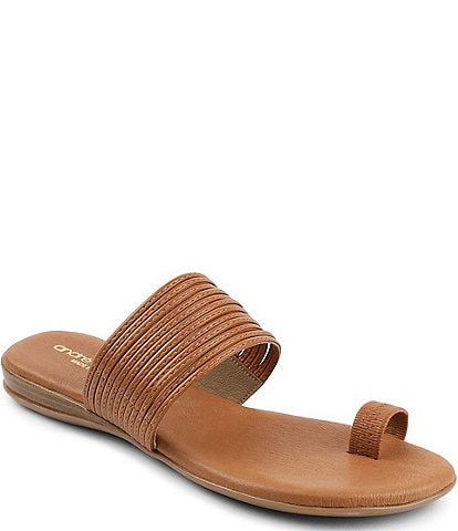 Andre Assous Vira Leather Toe Ring Sandals