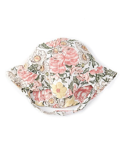 Angel Dear Baby Girls 6-12 Months Traditional Floral Sun Hat