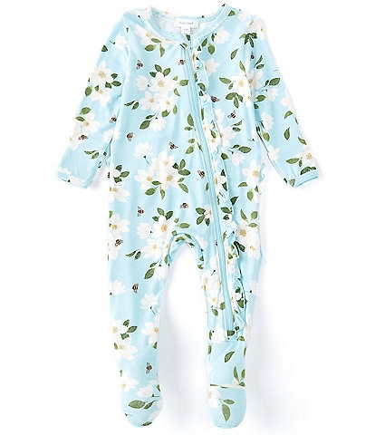 Angel Dear Baby Girls Newborn-9 Months Long-Sleeve Magnolia Footed Coverall