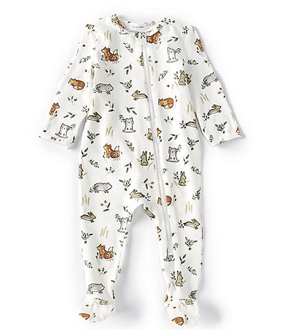Angel Dear Baby Newborn-9 Months Long-Sleeve Fox Woodland Footed Coverall
