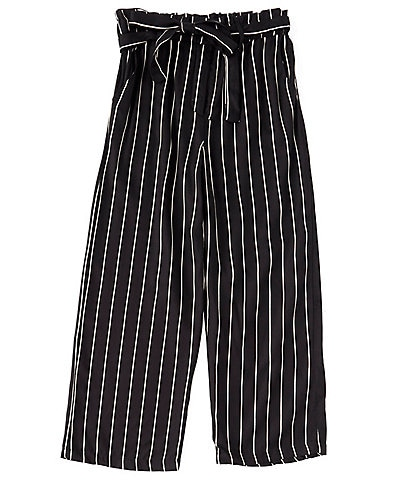 Angie Big Girls 7-14 Striped Paperbag-Waist Twill Pants