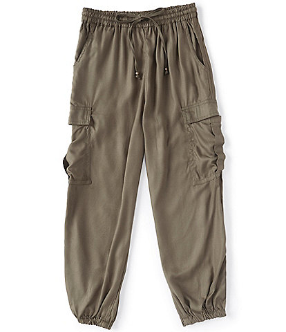 Angie Big Girls 7-14 Tie-Waist Cargo Jogger