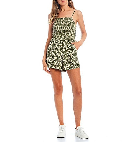 Angie Ditsy Floral Smocked Romper