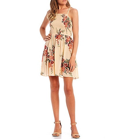 Angie Floral Smocked Swing Dress