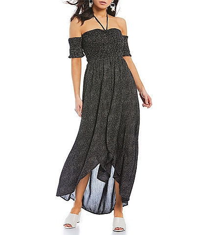 Angie Smocked Bodice Maxi Dress