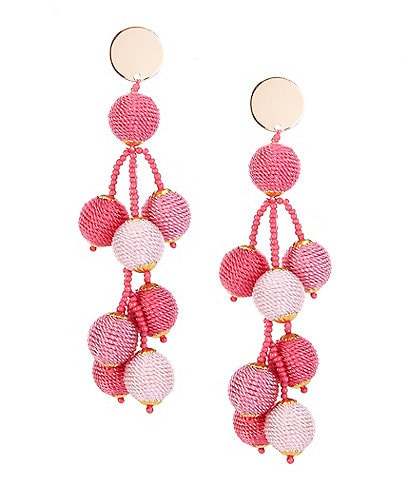 Anna & Ava Seed Bead Multi Strand Statement Earrings