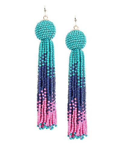 Anna & Ava Beaded Tassel Statement Earrings