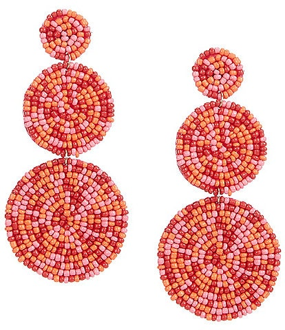 Anna & Ava Beaded Triple Circle Statement Earrings