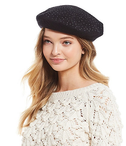 Anna & Ava Bedazzled Wool Beret