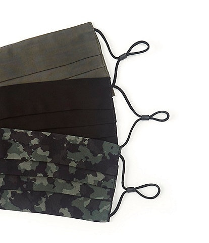 Anna & Ava Camo Cloth Face Mask 3-Piece Set