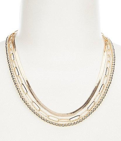 Anna & Ava Chain Multi Strand Necklace