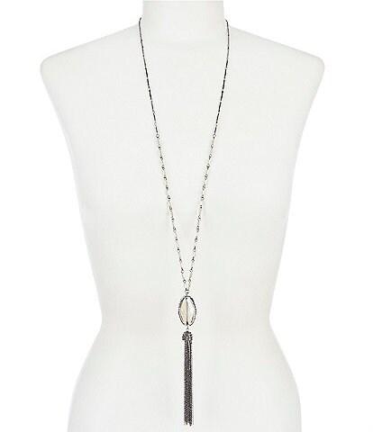 Anna & Ava Chain Tassel Pendant Necklace