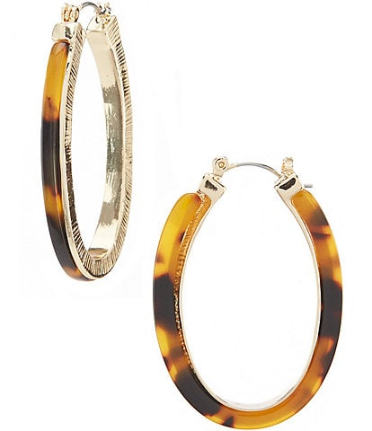 Anna & Ava Joyce Tortoise Hoop Earrings