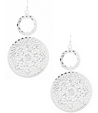 Anna & Ava Lauren Disk Drop Statement Earrings