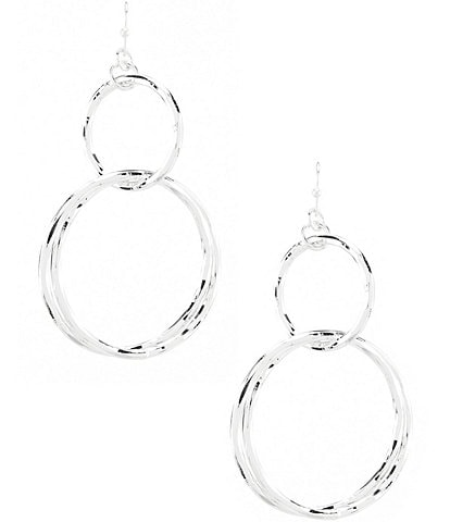 Anna & Ava Lee Double Circle Drop Earrings
