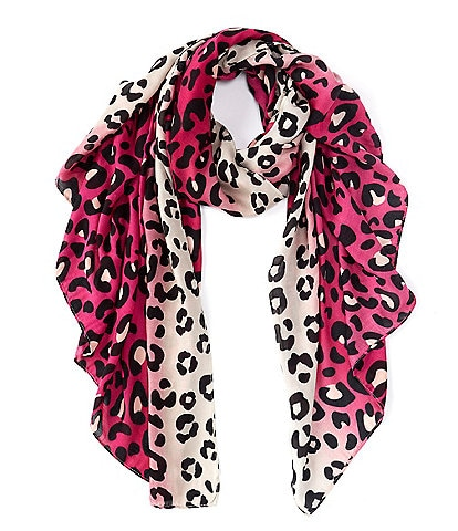Anna & Ava Leopard Ombre Oblong Scarf