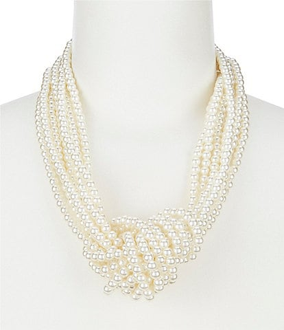 Anna & Ava Pearl Knot Necklace